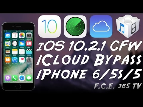 iOS 10.2.1 - iPhone 6 / 5S / 5 How to CFW iCloud Bypass + Proofs