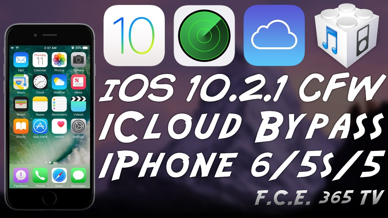 iOS 10 2 1 - iPhone 6 / 5S / 5 How to CFW iCloud Bypass + Proofs