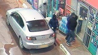 תיעוד: מעצר שודדי תחנות דלק