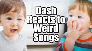 hilarious baby dash reacts to weird children s songs 1yr 6m