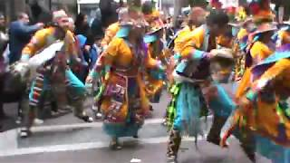 Tinkus Wistus.Entrada folklorica boliviana 2017,Santiago.