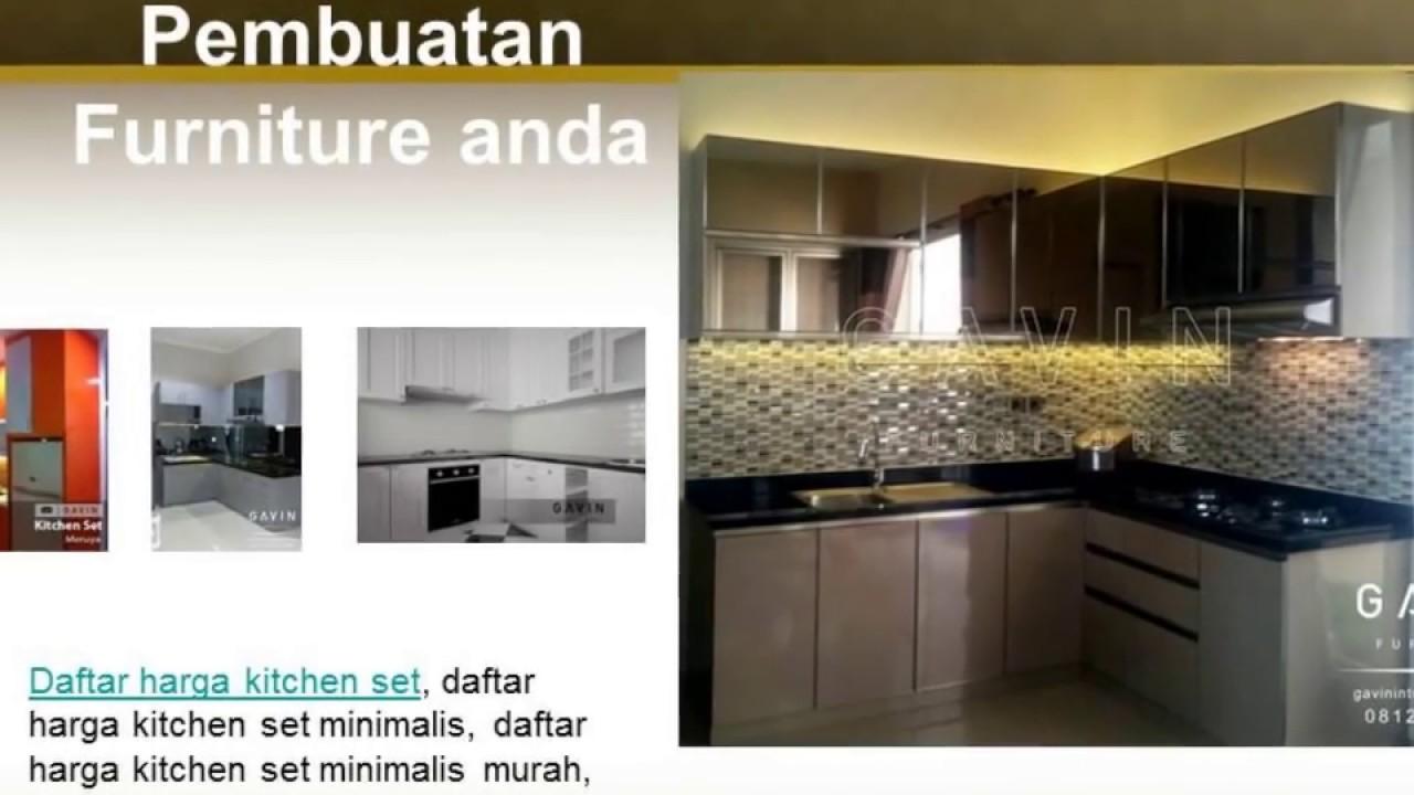 0812 1333 1628 Tsel Kitchen Set Minimalis Modern Youtube