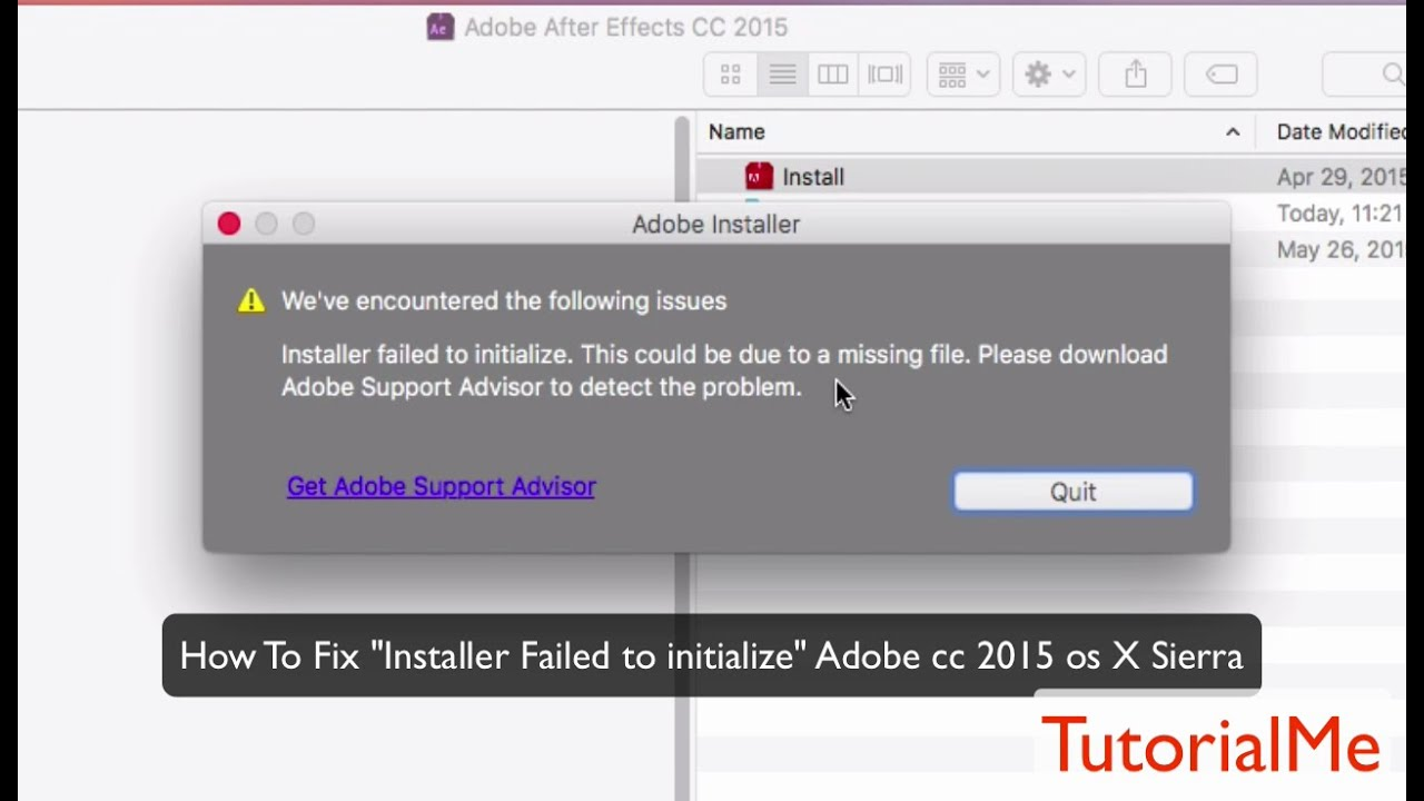 installer failed to initialize adobe cc mac