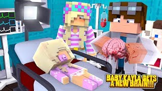 Minecraft PRINCESS BABY KAYLA GETS A NEW BRAIN!!! w/ LITTLE LEAH & LITTLE DONNY