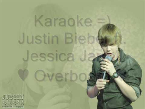 Justin Bieber ft. Jessica Jarrell - Overboard - Karaoke / instrumental with lyrics