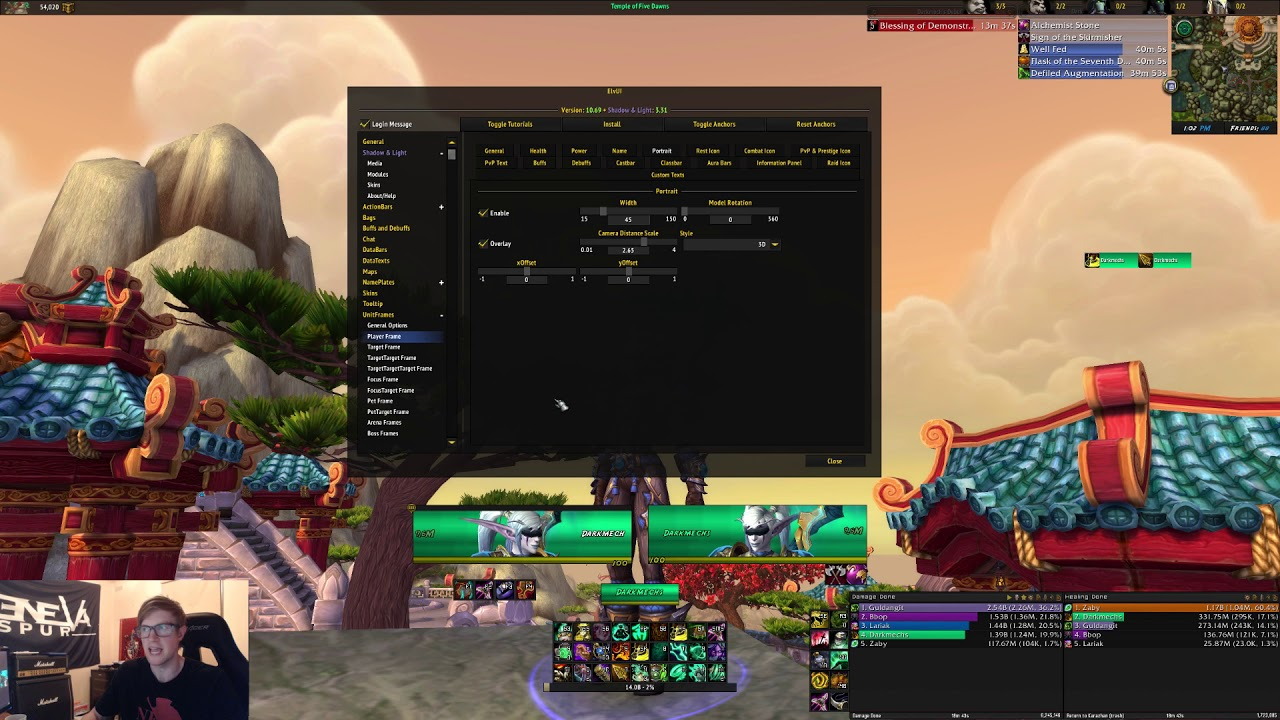 Player/Target Unit Frames Setup ElvUi Guide