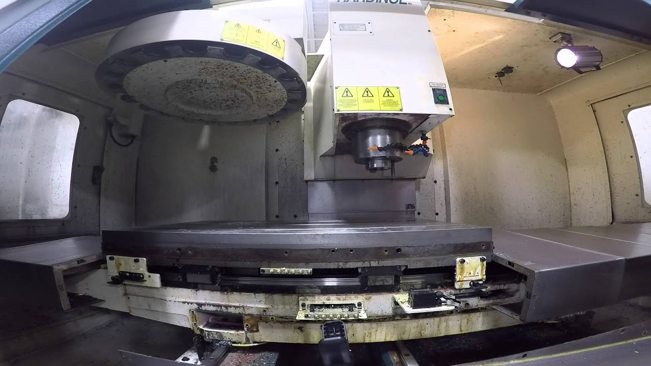 Hardinge vmc 800ii cnc vertical machining center s n nvb 823 new 2005