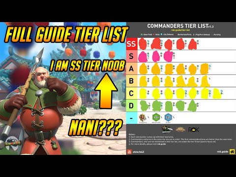 Official Full Commander Tier List Ranking Guide | Rise of Kingdoms