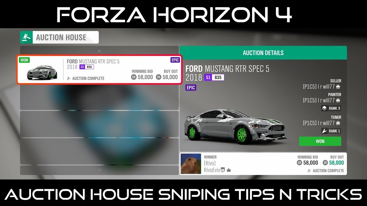 (READ DESCRIPTION!!!) Forza Horizon 4 Auction House Sniping Tips N' Tricks!