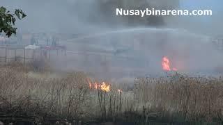 Nusaybin'de Mayınlı bölgede çıkan yangını TOMA ve İtfaiye söndürdü