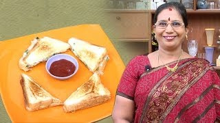 Chilli Cheese Sandwich | Mallika Badrinath Indian Recipes | Bread Toaste