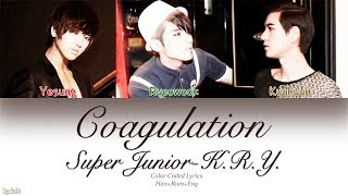 Super Junior-k.r.y.  슈퍼주니어-k.r.y.  – Coagulation  응결   Color Coded Lyrics   Han/