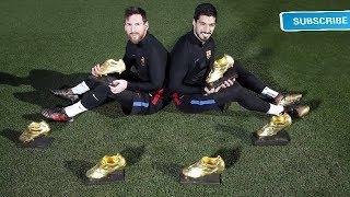 MESSI + SUAREZ = 6 GOLDEN BOOTS !!!