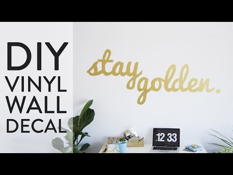 DIY Vinyl Wall Decal