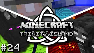 Minecraft: GRAB THE GOLD AND RUN - Trinity Island Hardcore Survival Ep. 24