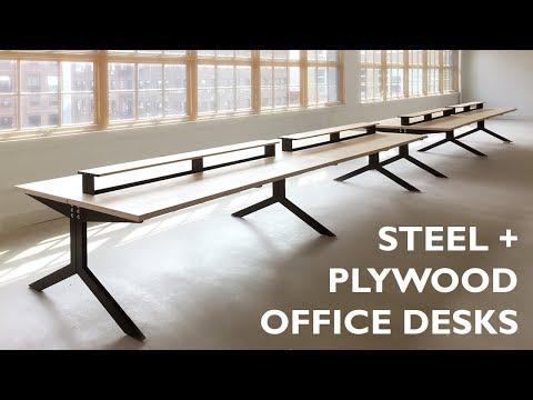 Steel + Plywood Office Desks - Episode 007