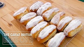 How to ice and knead iced buns with Paul Hollywood / The Great British Bake Off