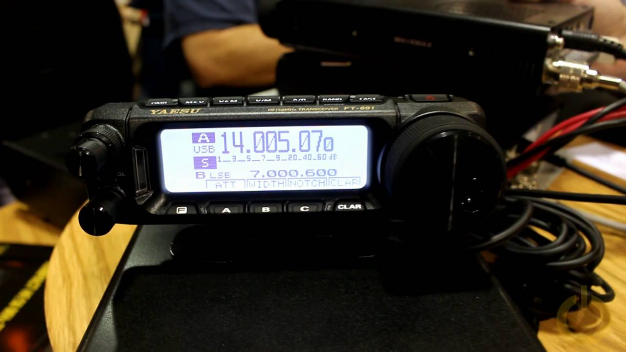 Yaesu FT-891 using Wilson FGT2 silver load antenna - YouTube