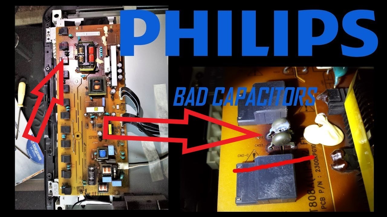 PHILIPS LCD, LED TV - No Picture (backlight), Only Sound, Easy cheap(5$) on