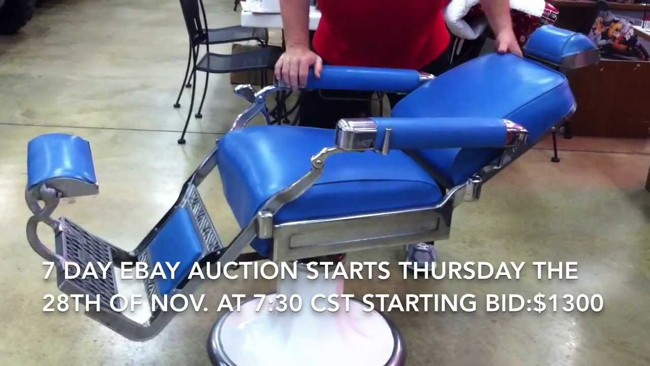 Late 40s Early 50s Koken Barber Chair Youtube