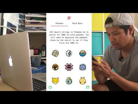 iOS search strings 100% iv wild pokemon webapp on Pokemon go