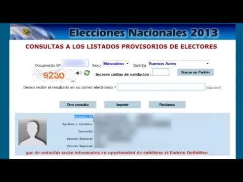 Dónde voto: ya podés consultar el padrón definitivo para las elecciones | #Decisión2019из YouTube · Длительность: 1 мин49 с