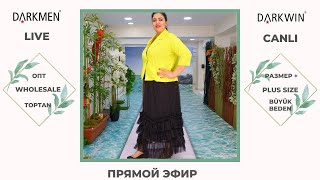 05 05 2021 Показ женской одежды больших размеров DARKWIN от DARKMEN Турция Стамбул Опт