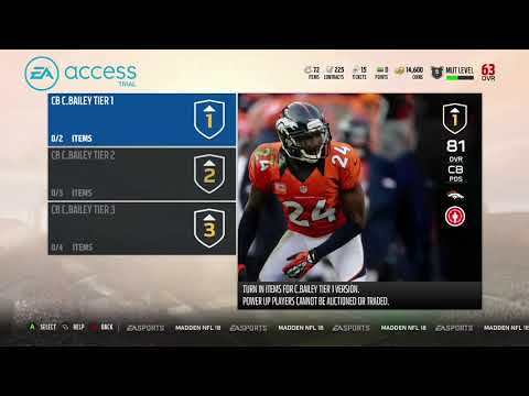 Madden 18 Ultimate Team Free Elite Champ Bailey Pack Opening!