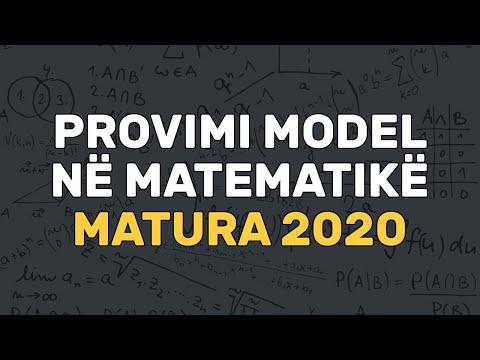 Zgjidhje e Provimit Model   Matura 2020   Përgatitje për Provim   Matematikë