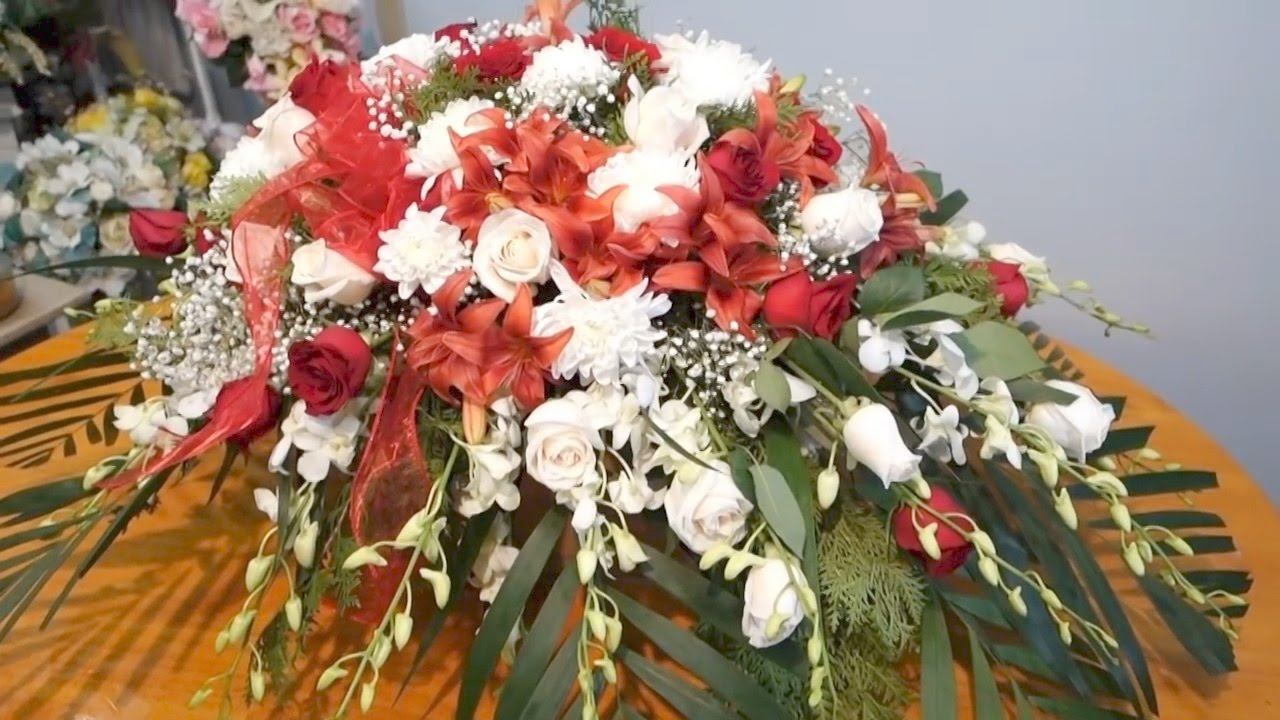 Floral Casket Spray Arrangement Diy Youtube