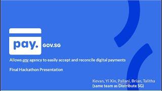 OGP Hackathon 2020 - Pay SG