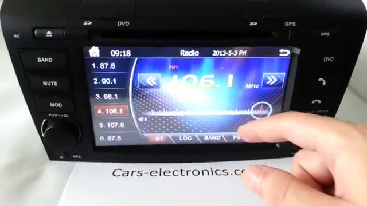 Mazda 3 dvd navigation system - radio Mazda 3 touch screen head unit  replacement