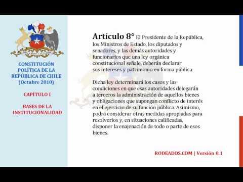 Capitulo I - Constitucion Politica de Chile