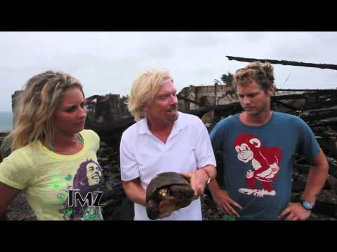 Kate Winslet Saves Woman from Fire    Richard Branson House Burns Down