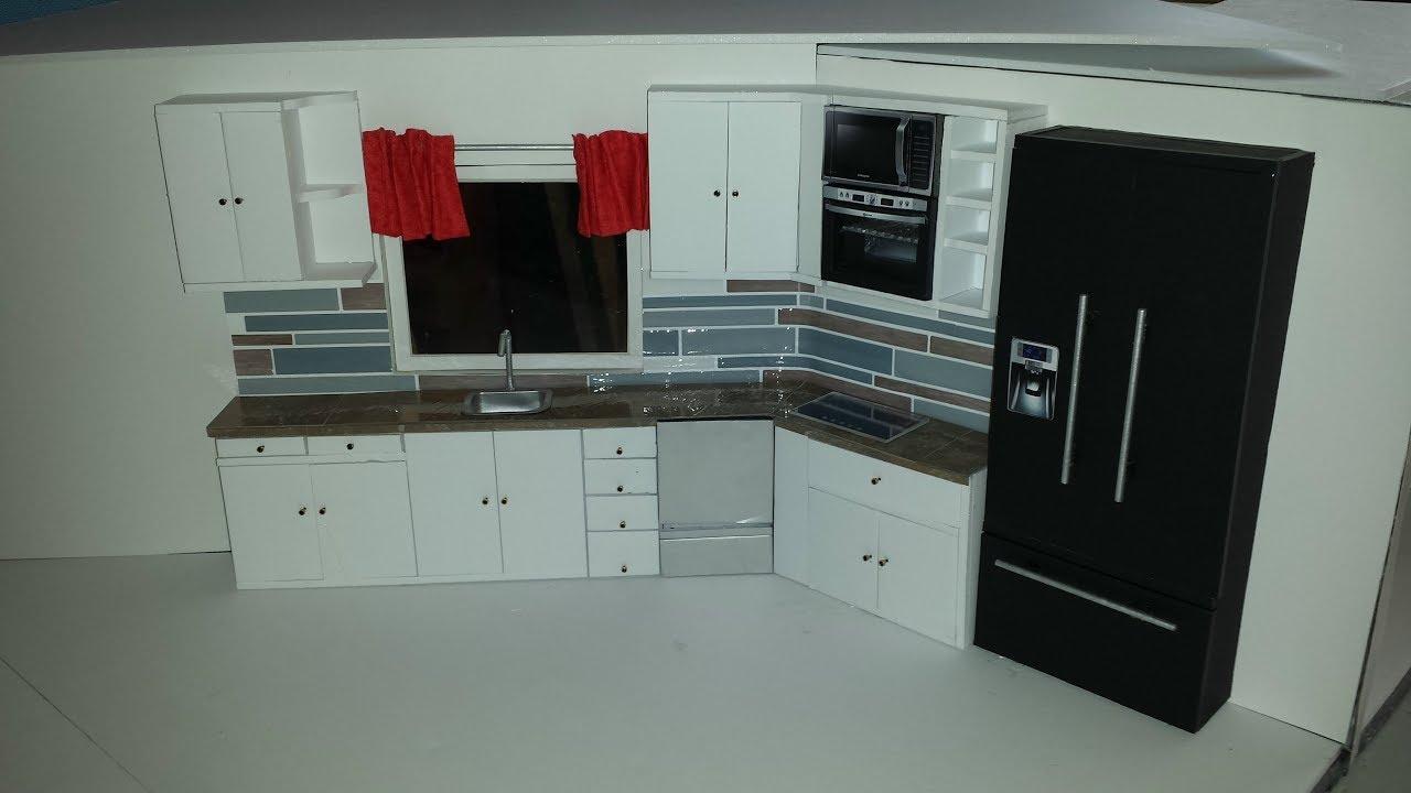 DIY Doll Kitchen 6  YouTube
