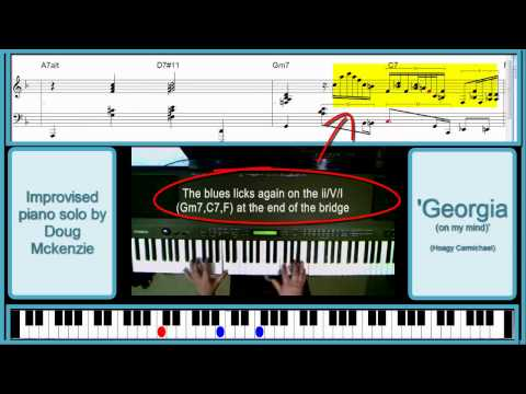 Tutorial: 'Georgia on my Mind' - jazz piano lesson