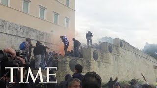 Clashes Erupt In Greece As Protesters Demonstrate Against Macedonia Name Change | TIME