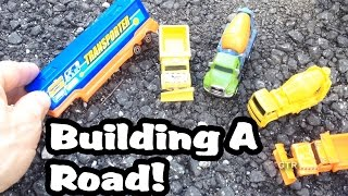 Construction Video For Kids l Building A Road With Toy Excavator, Dump Truck l Garbage Trucks Rule