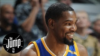Kevin durant willing to take less than max contract | the jump | espn