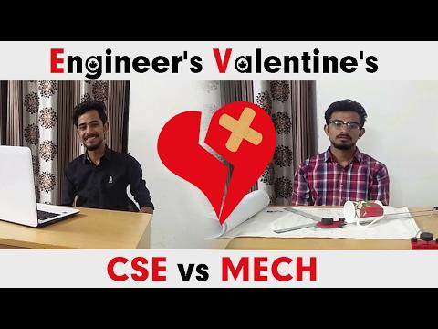 Engineer's Valentine's | CSE vs MECH | Mr. Walia | Valentine Funny Video 2017 |