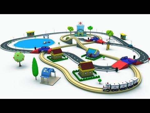 Trains For Kids - Toy Factory Cartoon - Choo Choo Train - Trains For Children - Kids Railway