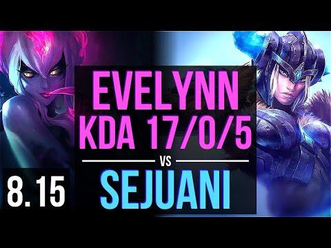 EVELYNN vs SEJUANI (JUNGLE) ~ KDA 17/0/5, Legendary ~ Korea Challenger ~ Patch 8.15