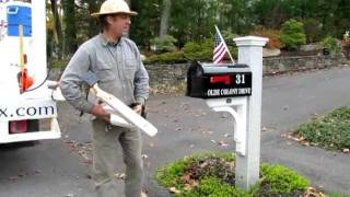 Granite Mailbox Post Retrofit