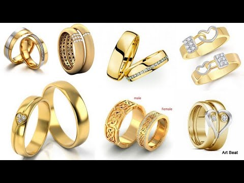 gold-couple-rings-designs-|-latest-2020-gold-rings-for-men-&-women