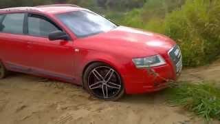 Песок, река и крутой подъём на Audi A6 C6 allroad quattro