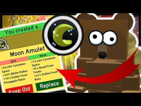3x MOON AMULET *UPGRADE* & FINAL Sun Bear Quest!  Roblox Bee Swarm Simulator