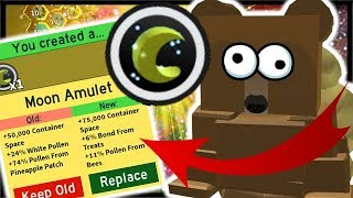 3x MOON AMULET *UPGRADE* & FINAL Sun Bear Quest! | Roblox Bee Swarm Simulator