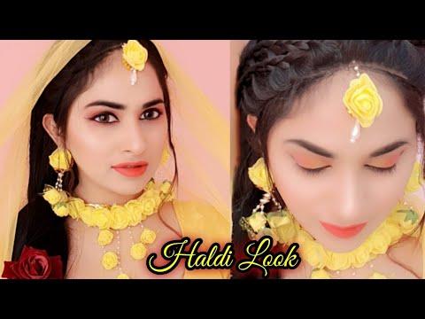Indian Bridal Haldi Makeup Look