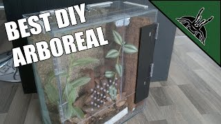 DIY - The best ARBOREAL ENCLOSURE design! - Poecilotheria enclosure/terrarium