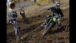 МОТОКРОСС. УРОКИ ПРОХОЖДЕНИЯ ПОВОРОТОВ. Отработка поворотов.  Motocross turning.Turn practice.